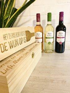 kist met flesje(s) wijn